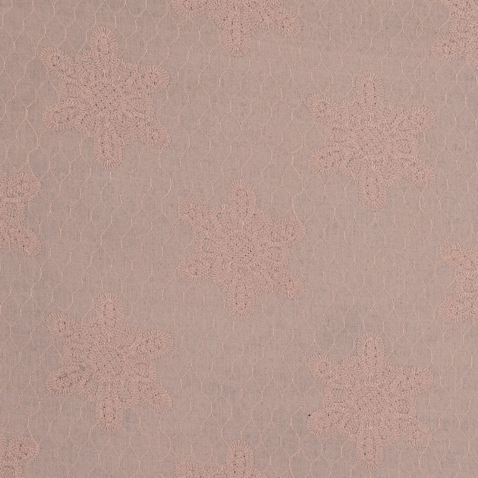 peach floral embroidered cotton woven 318144 11