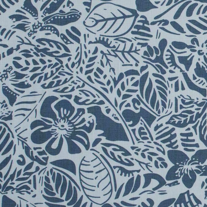 pearl blue leafy linen print 317713 11