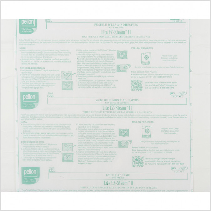 pellon lite two sided fusible web w paper backing 104990 11