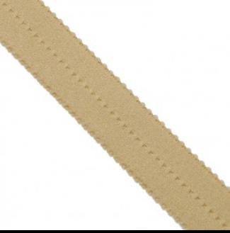 picot elastic caramel