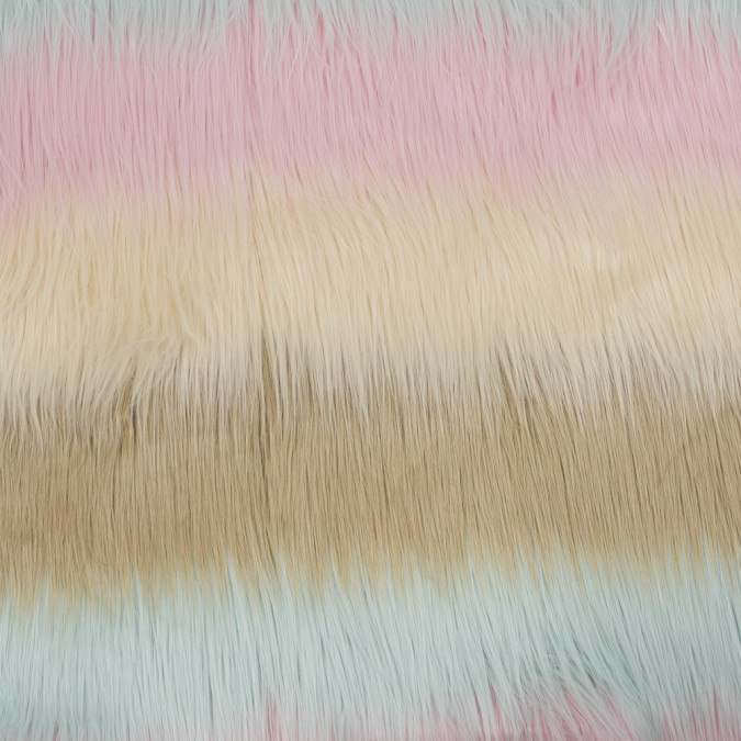 pink pale aqua and beige awning striped faux fur 317808 11