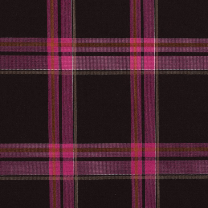 pink and brown plaid wool twill 318931 11