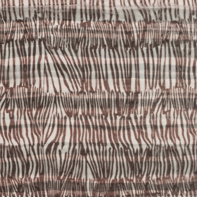 pink and gray zebra striped silk and rayon burnout velvet 319281 11