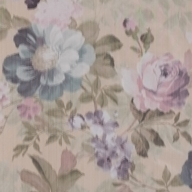 pink and green floral printed taffeta 309040 11