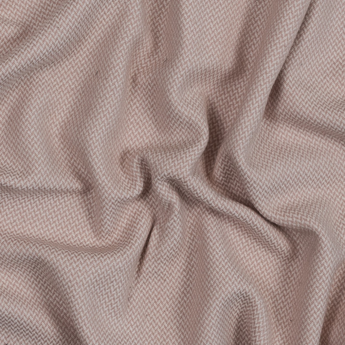 pink and white herringbone brushed wool tweed 319060 11