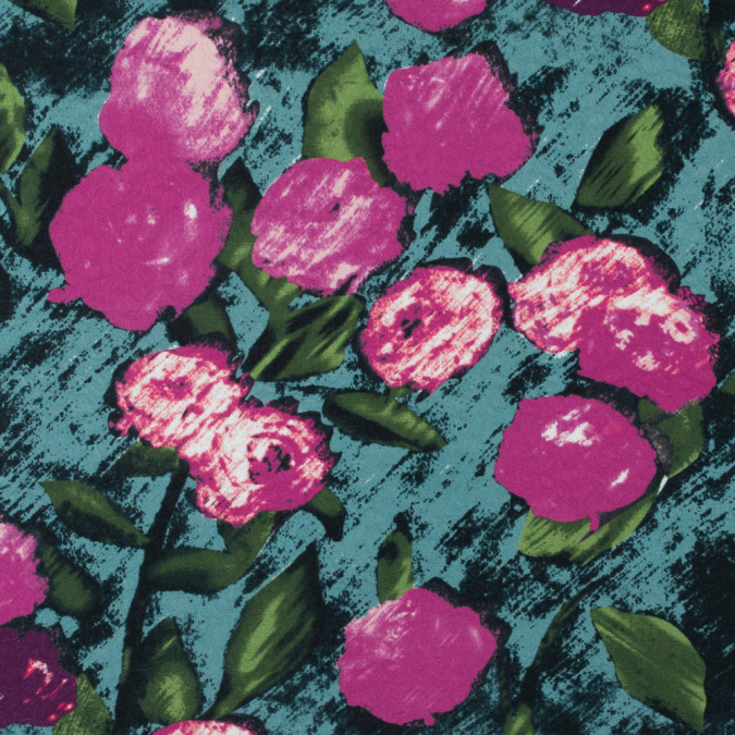 pink green digitally printed floral on a rose jacquard 115279 11