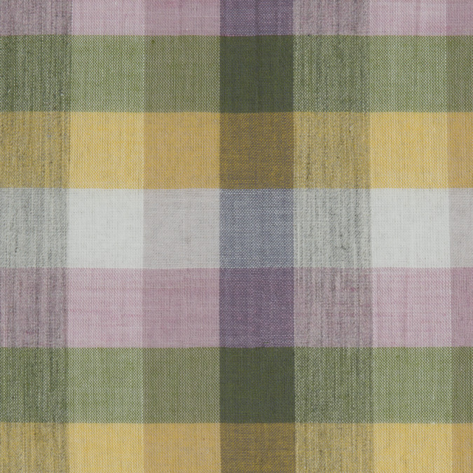 pink green yellow gray checkered cotton voile 309726 11
