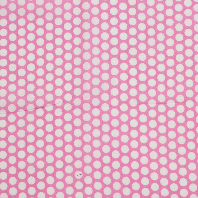 pink polka dotted cotton voile 306382 11