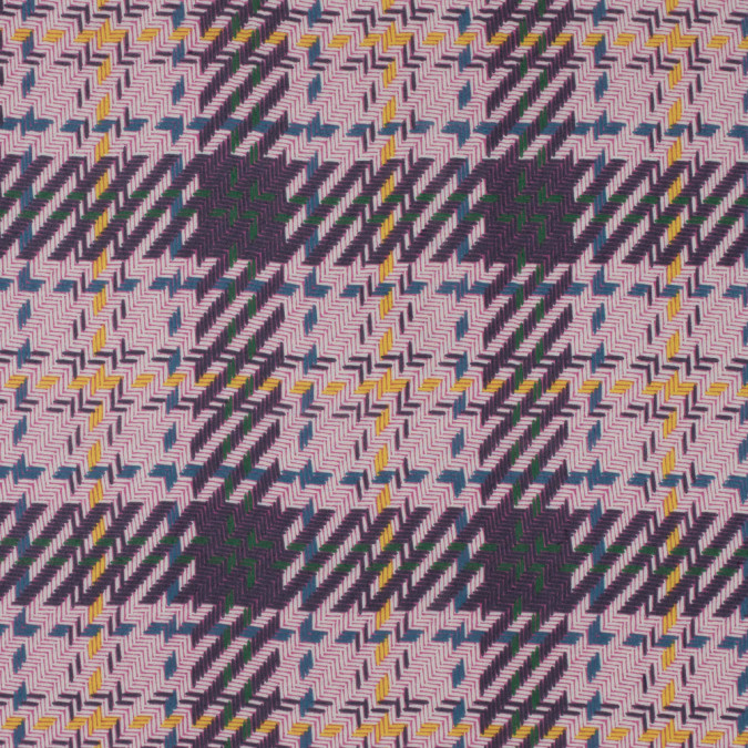 pink purple geometric plaid polyester chiffon 311705 11
