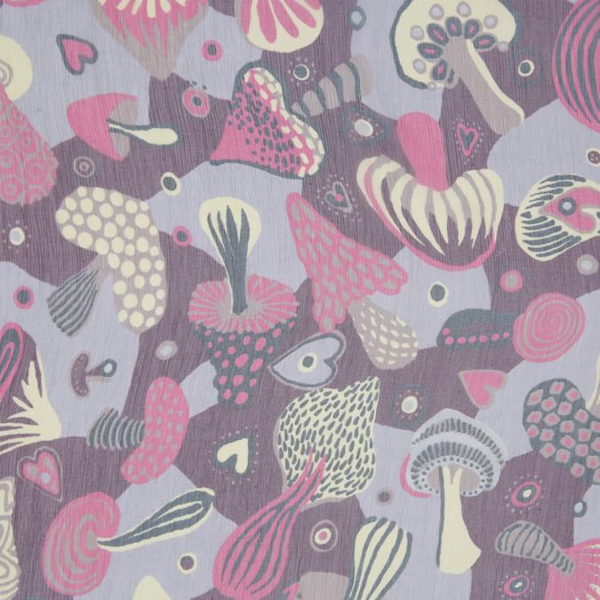 pink yellow gray mushroom printed silk crinkled chiffon 306935 11
