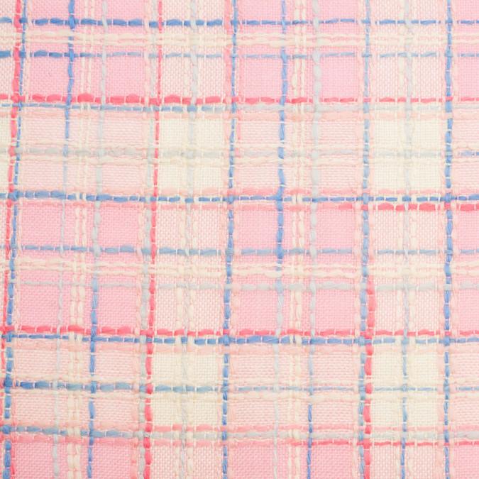 pink yellow plaid wool rayon woven 306520 11