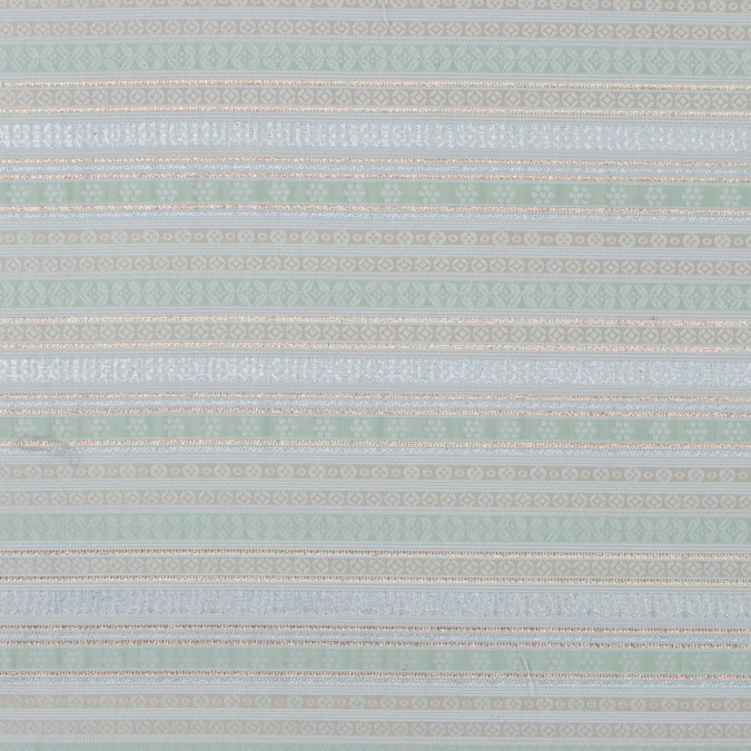 pista green and ivory jacquard with metallic stripes 316045 11