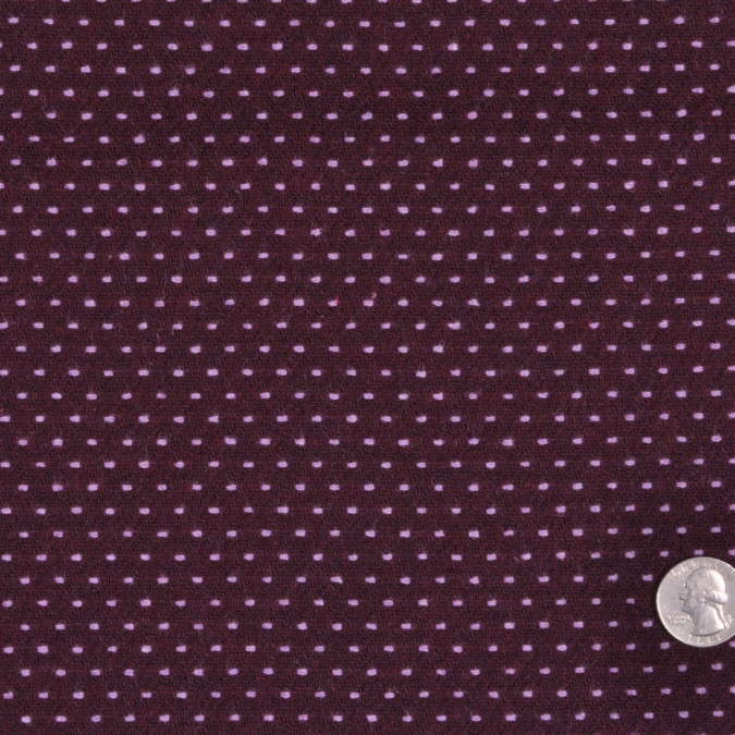 plum lavender polka dotted wool polyester suiting fw11712b 11