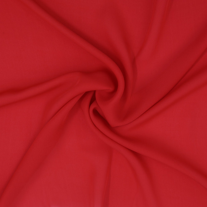 poppy red silk georgette 307202 11