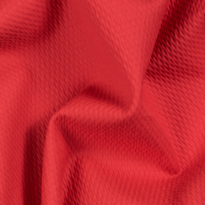 poppy red textural stretch cotton woven 310700 11