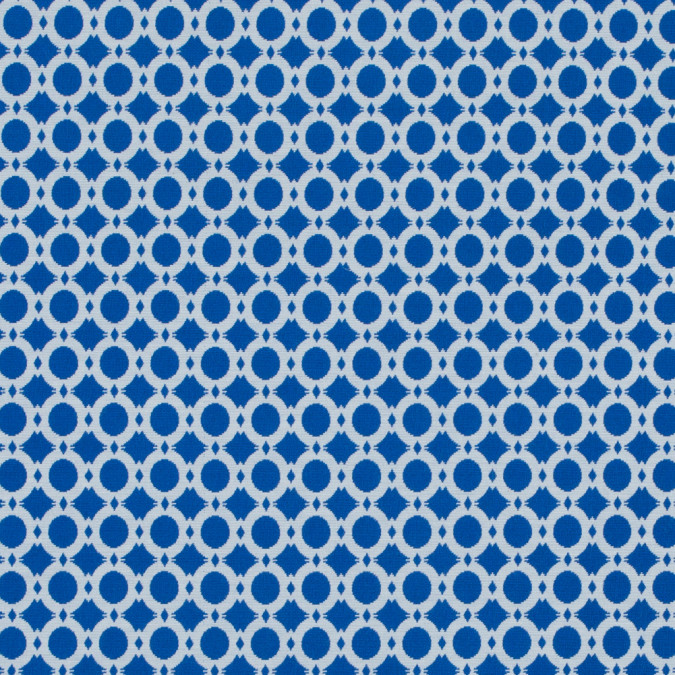 princess blue and white geometric stretch cotton jacquard 314225 11