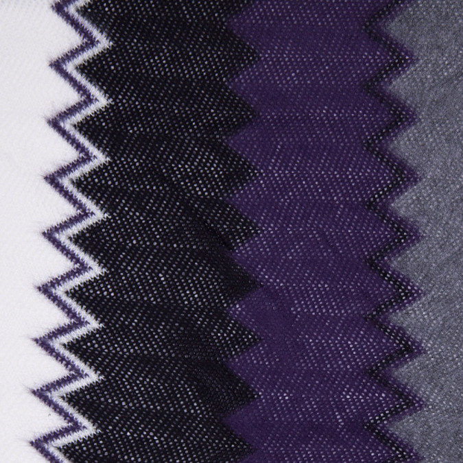 purple black and white big zig zags soft sweater knit 303889 11