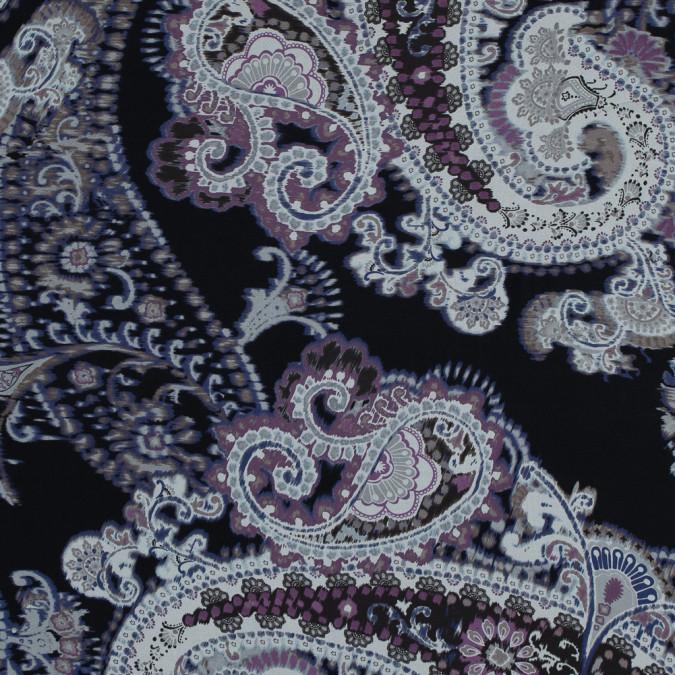 purple and black paisley printed silk chiffon 315922 11