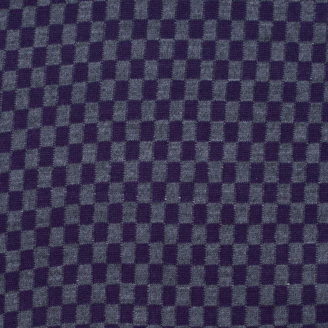 purple and gray checkerboard wool blend knit 303846 11