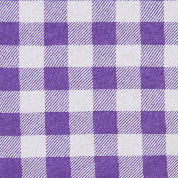 purple and white big checks cotton jersey 302414 11