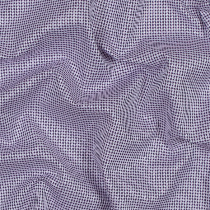 purple and white checkered luxury cotton shirting 118446 11