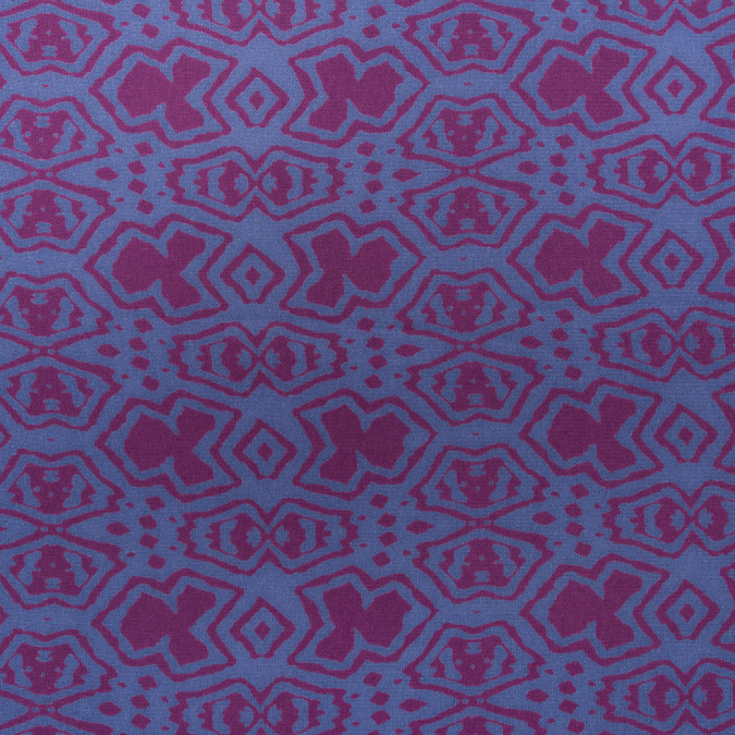 purple blue abstract printed polyester woven 309902 11