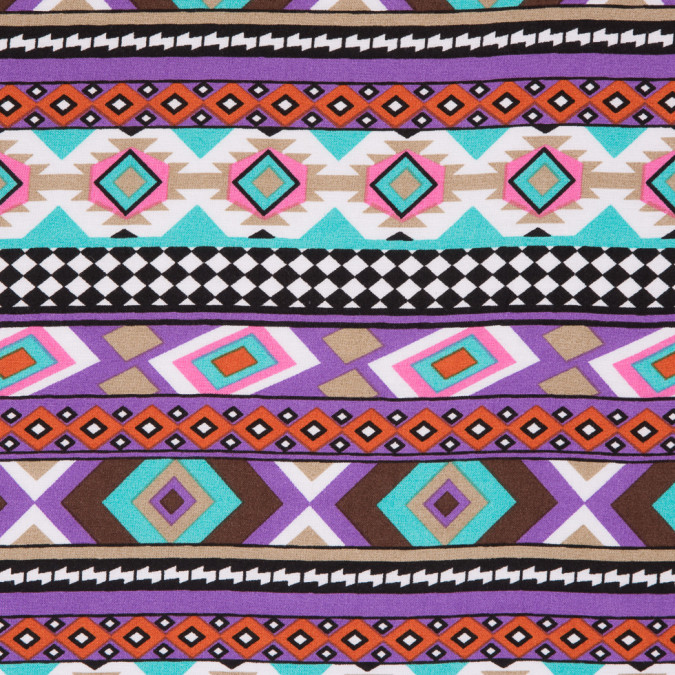 purple blue navajo tribal printed rayon woven 310001 11