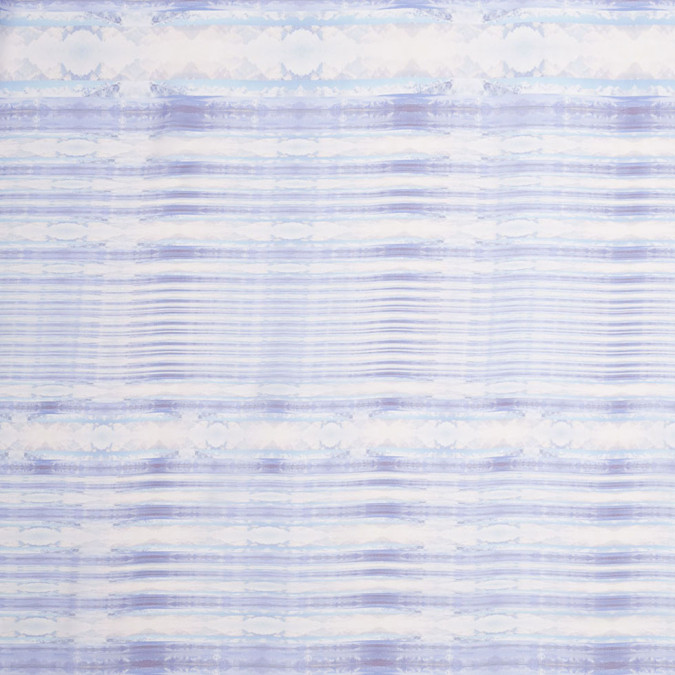 purple blue organic stripes digitally printed polyester chiffon 307406 11