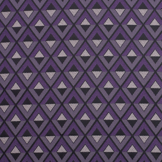 purple geometric stretch polyester suiting 306259 11