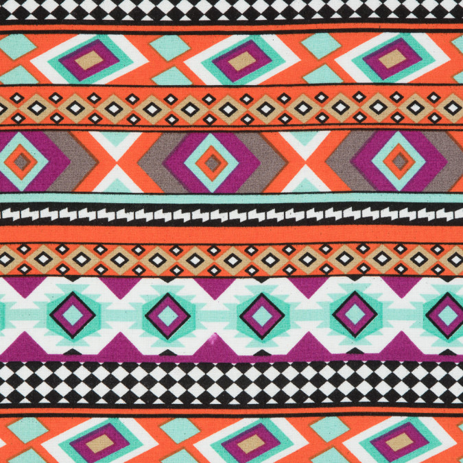 purple orange blue navajo tribal printed rayon woven 309949 11