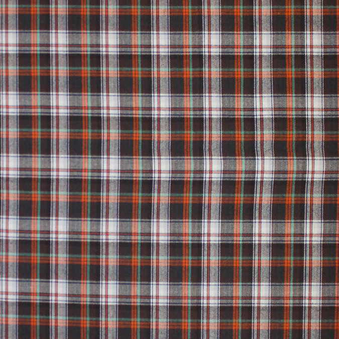 purple orange white plaid cotton flannel 308638 11