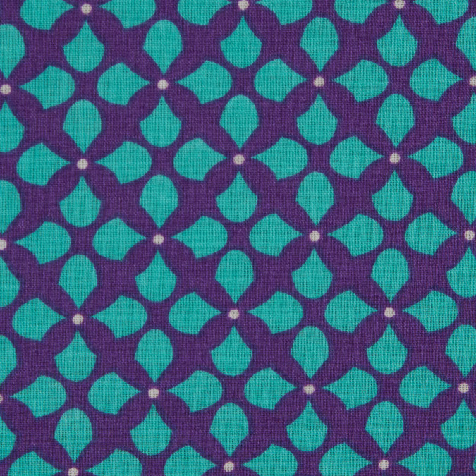 purple teal geometric printed cotton voile 114134 11