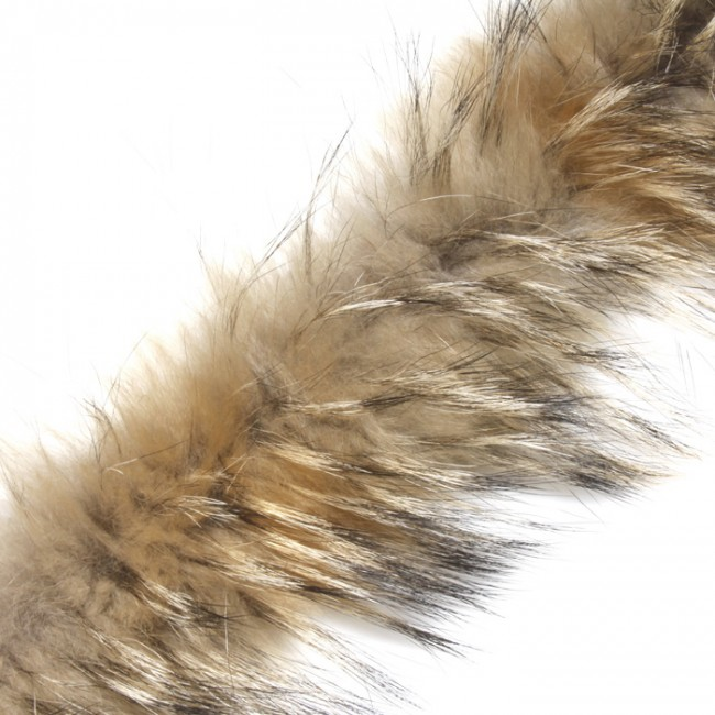 raccoon fur trim brown