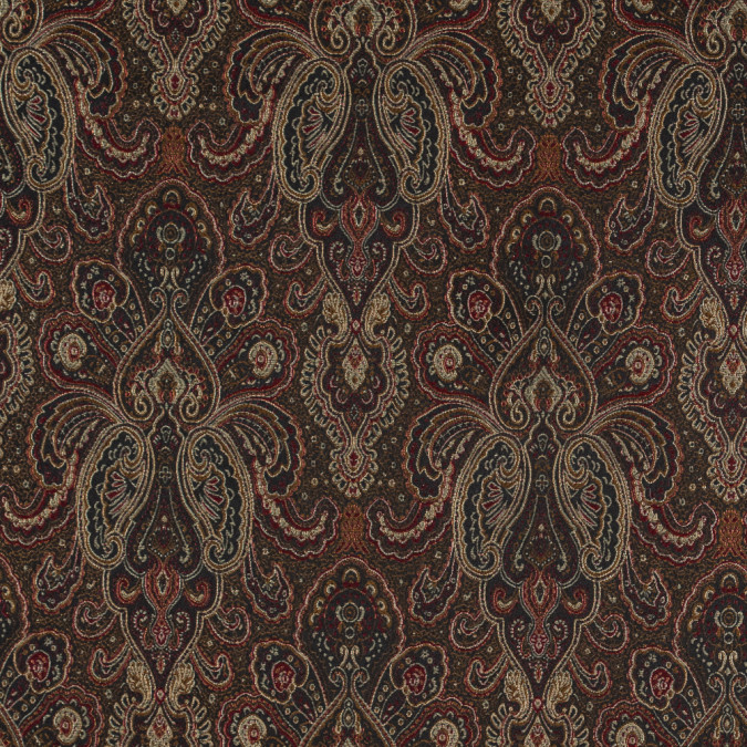 radiant red and gold paisley damask jacquard 311110 11