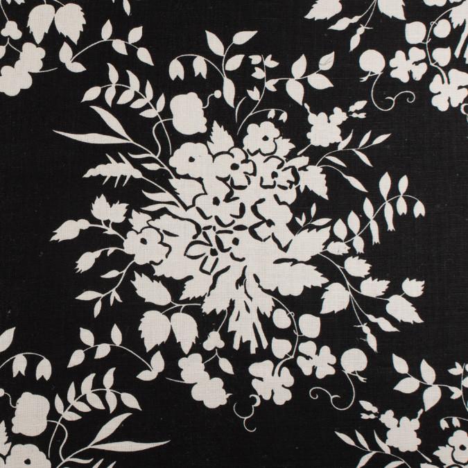 ralph lauren black and egret floral linen canvas 108317 11
