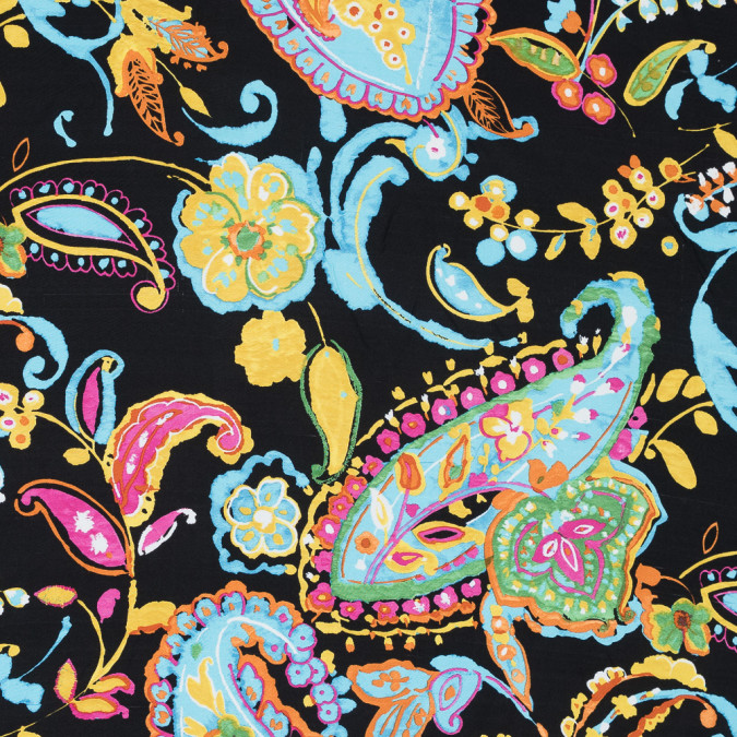 ralph lauren blue multicolor paisley printed silk woven 318651 11