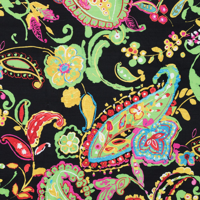 ralph lauren green multicolor paisley printed silk woven 318637 11
