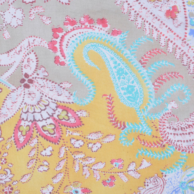 ralph lauren multi colored paisley silk chiffon fs12639 11
