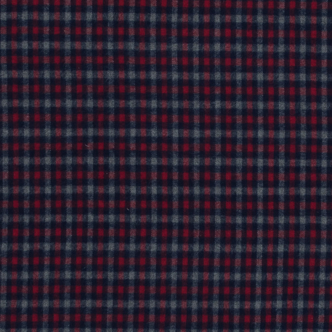 red blue and gray plaid cotton flannel 318875 11