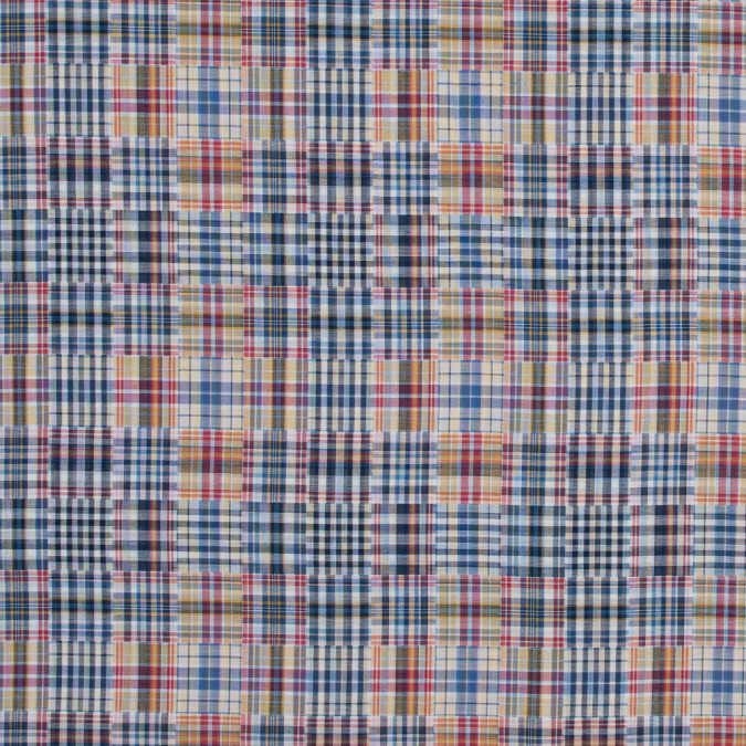 red blue and yellow cotton madras 317131 11