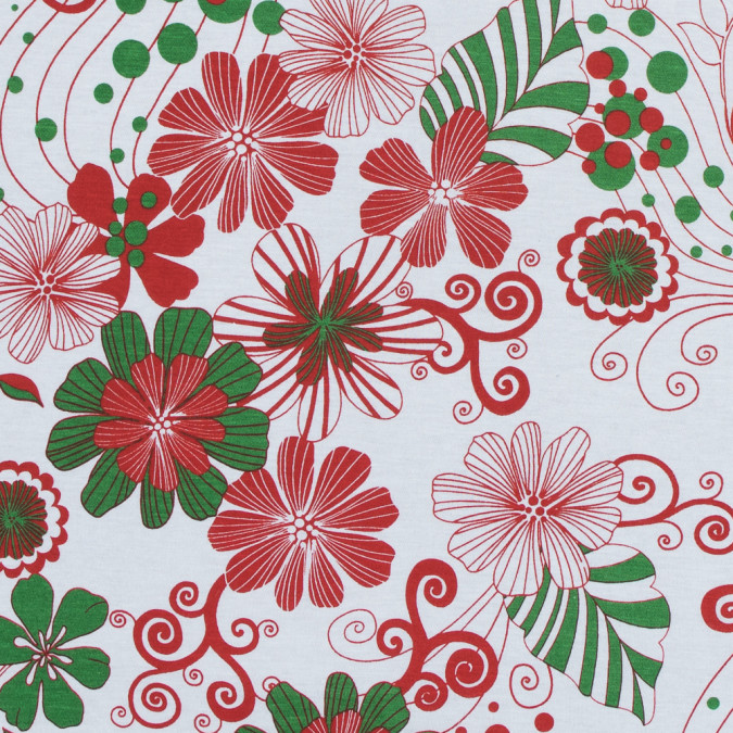 red green and white christmas spirited floral cotton jersey 313543 11