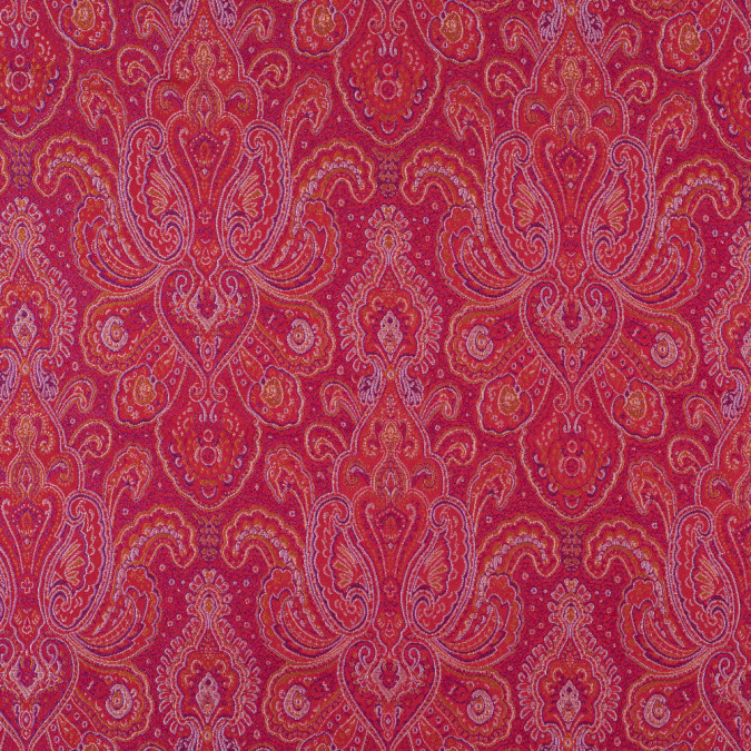 red purple and gold paisley brocade jacquard 311116 11