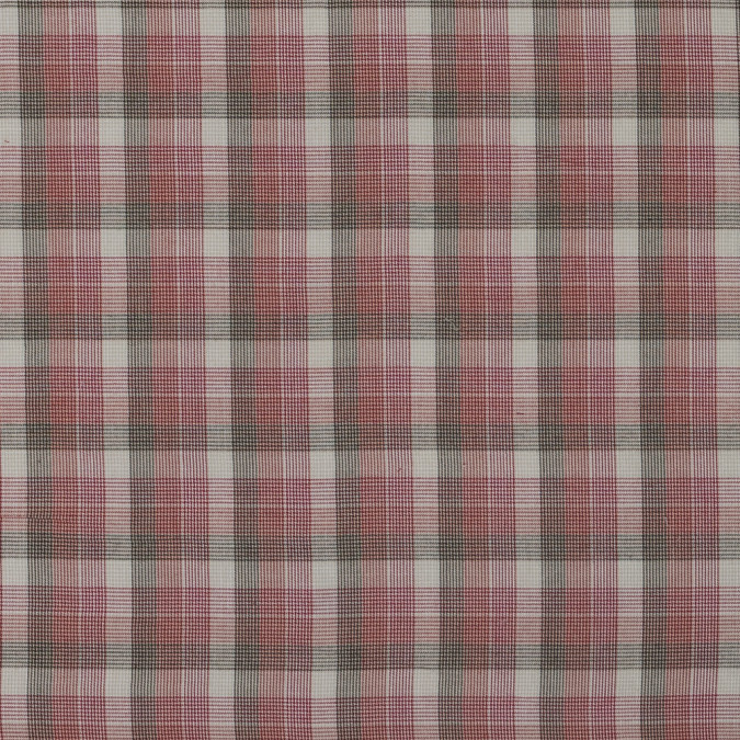 red and beige plaid cotton batiste 315982 11