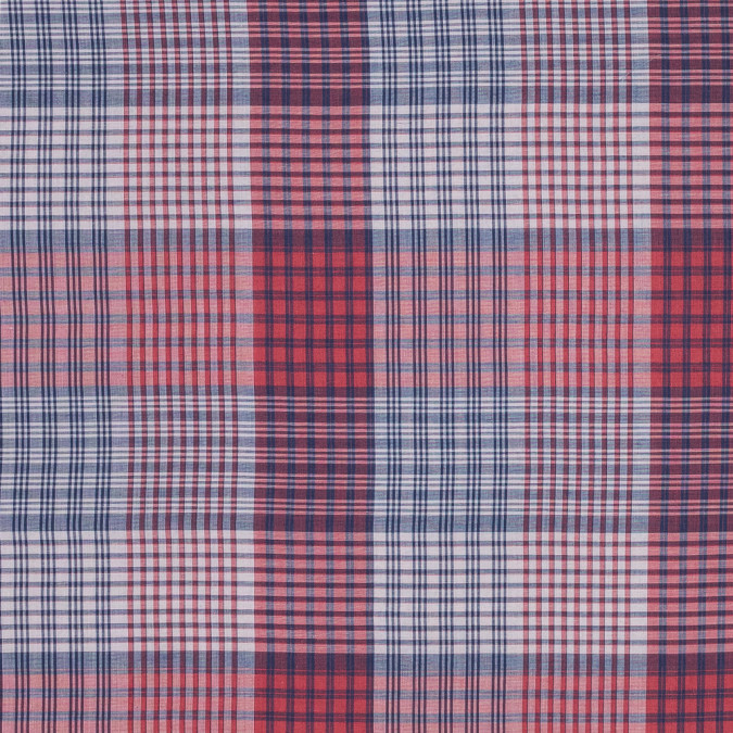 red and blue plaid japanese cotton voile 318880 11