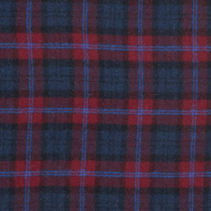 red and blue plaid wool coating 317256 11