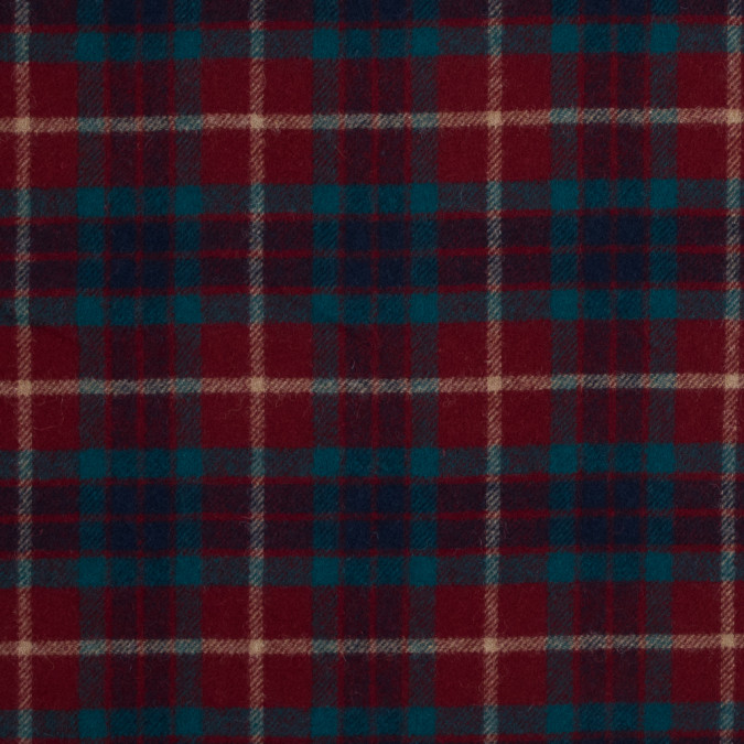 red and blue tartan plaid wool twill 317251 11