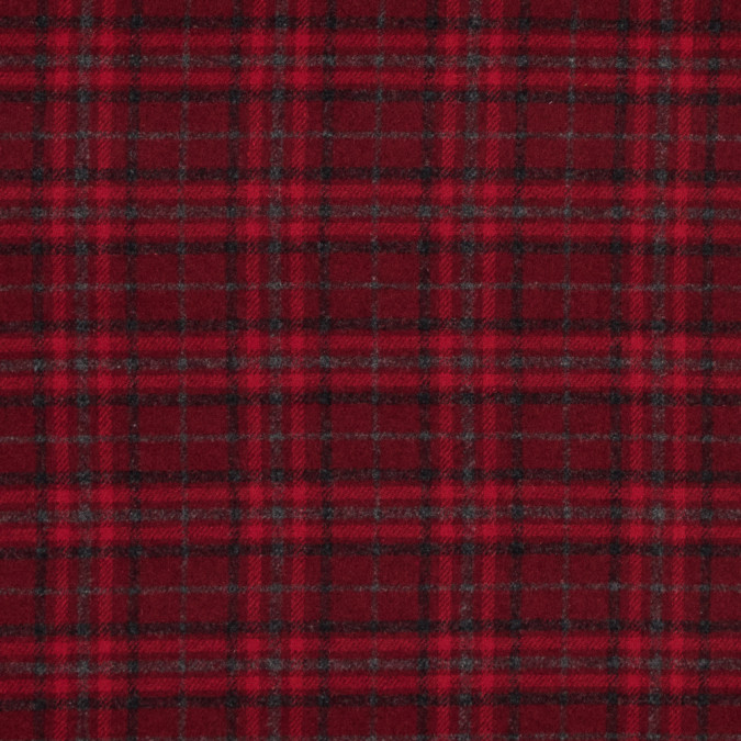 red and gray plaid blended flannel 316000 11