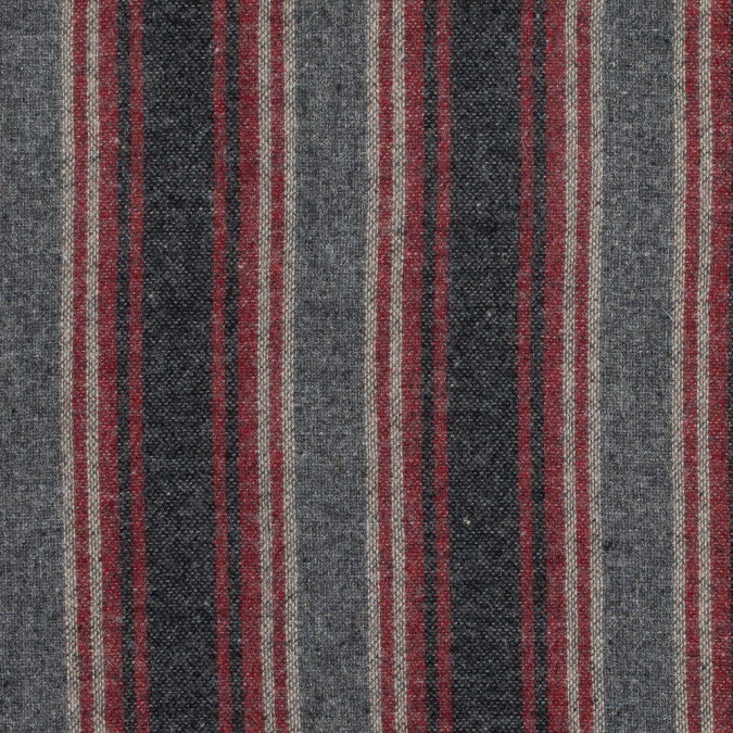 red and gray striped wool woven 317259 11