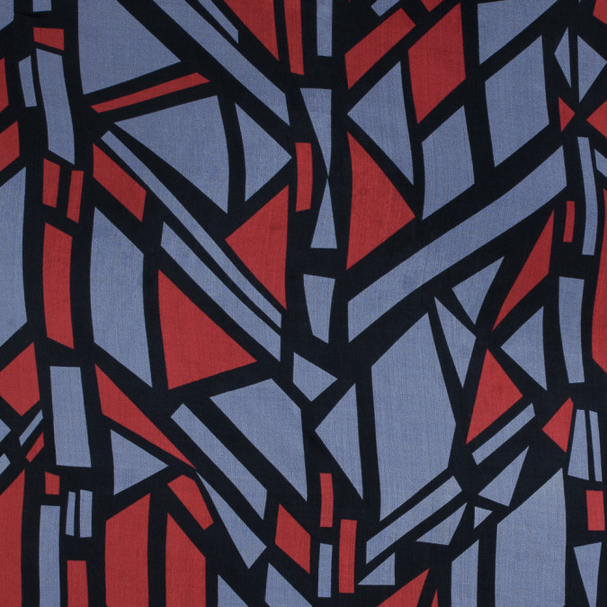 red and purple geometric printed silk chiffon 315760 11