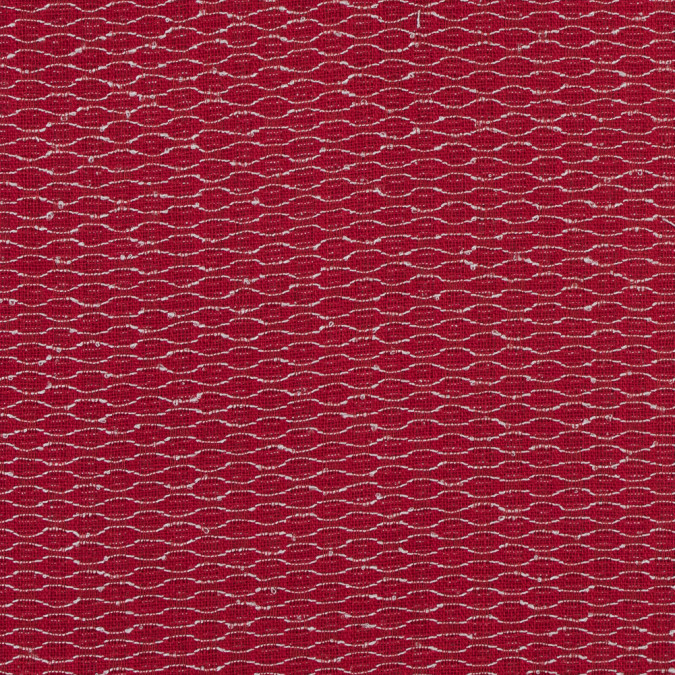 red and white woven silk and viscose blend 317504 11